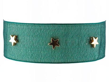 Choker gwiazdki zielony
