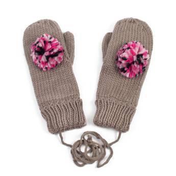 Rękawiczki pompon brown