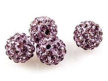 SHAMBALLA KULKA SWAROVSKI LIGHT AMETHYST 212 10mm