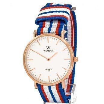 Zegarek pleciony niebieski