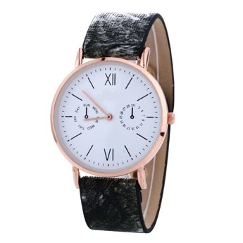 Zegarek żmijka czarny szary I