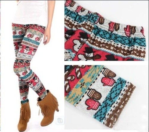 LEGGINSY GETRY NORDIC SNOWMAN